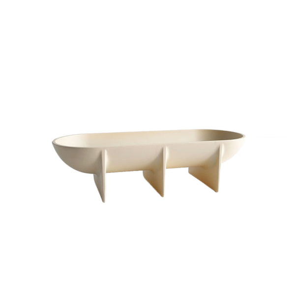 Large Standing Bowl - Cream