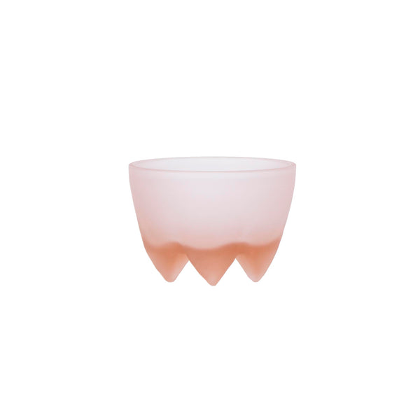 Glass Footed Bowl Blush