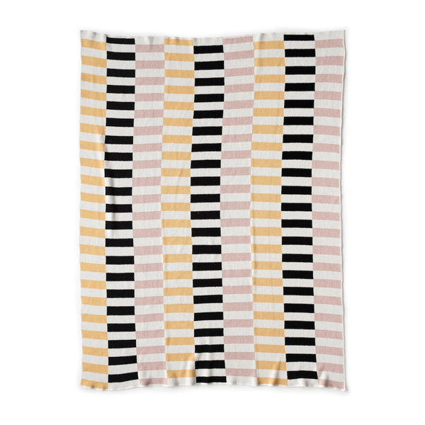 Lanai Knit Throw Blanket in Blush / Sunny