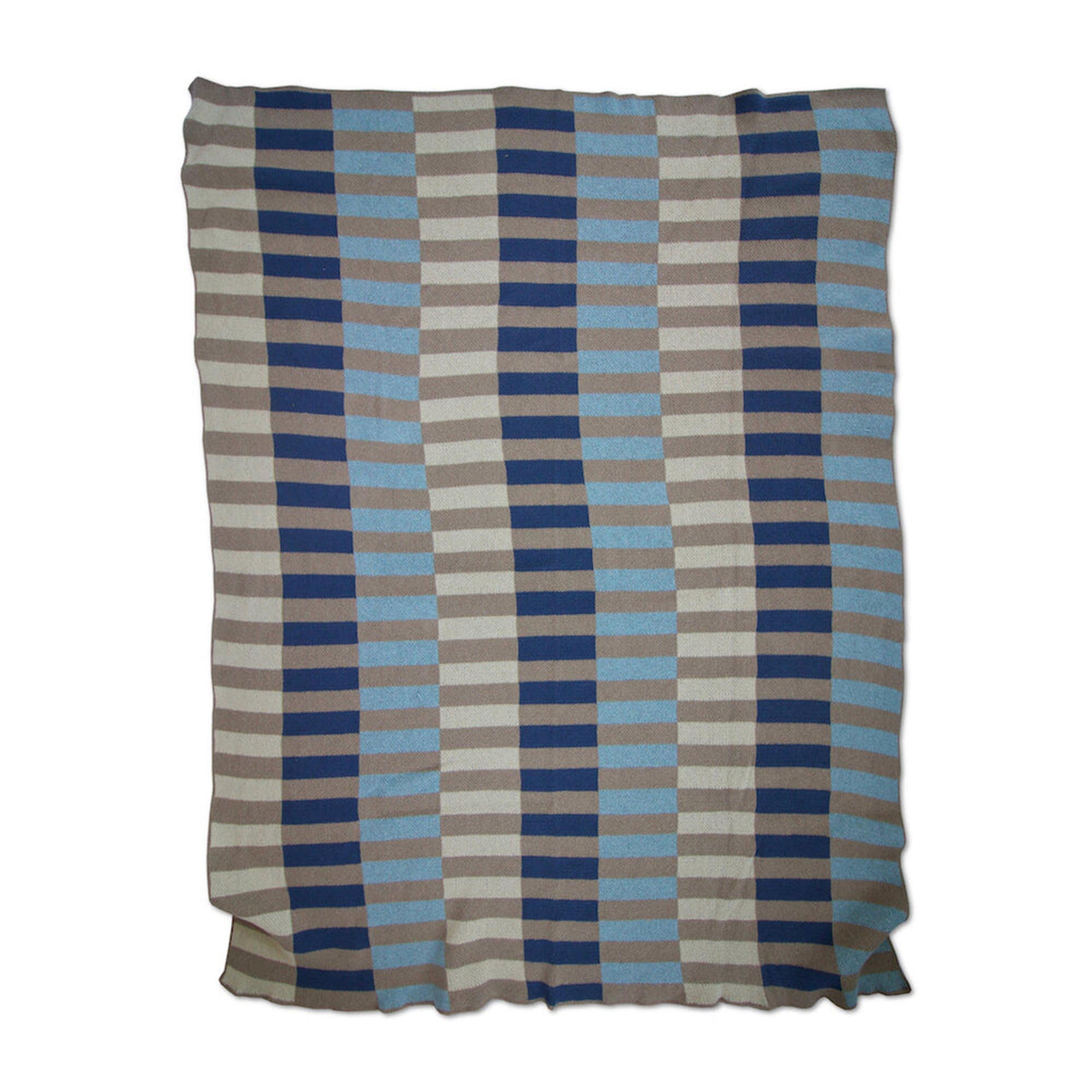 Lanai Knit Throw Blanket in Blues