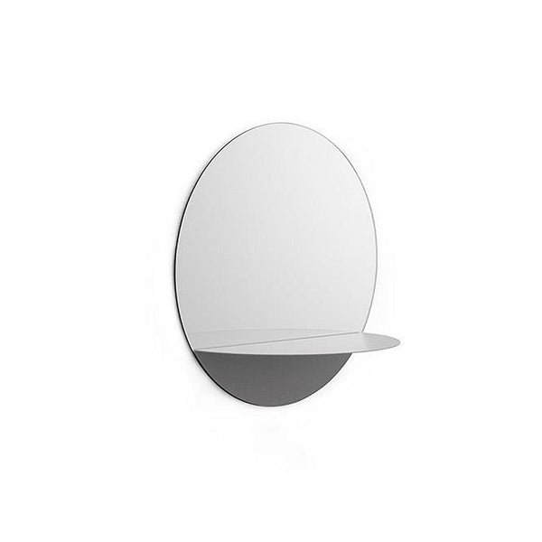 Horizon Mirror Round - Grey