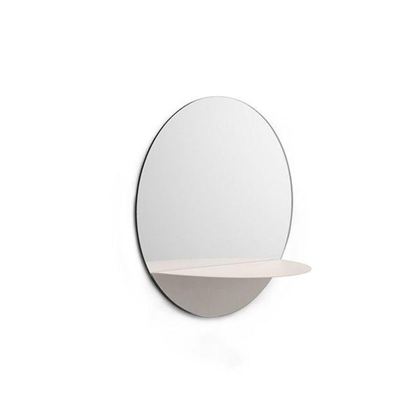 Horizon Mirror Round - White