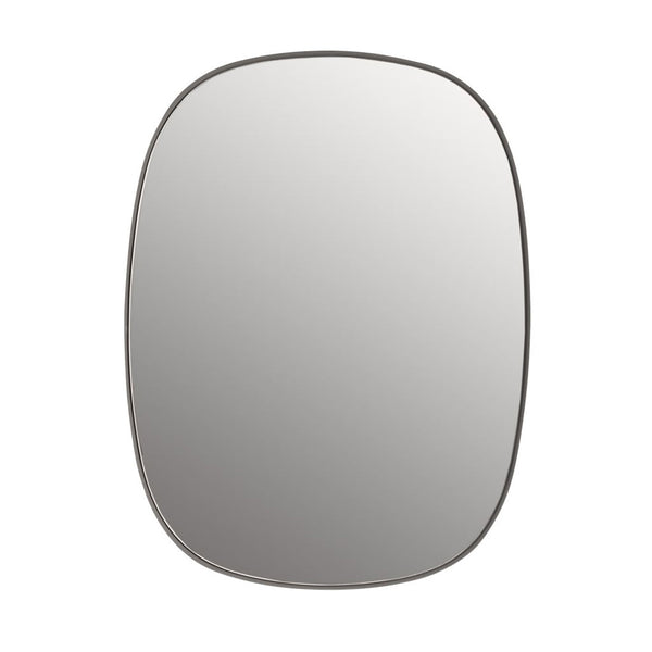 Framed Mirror Grey Small