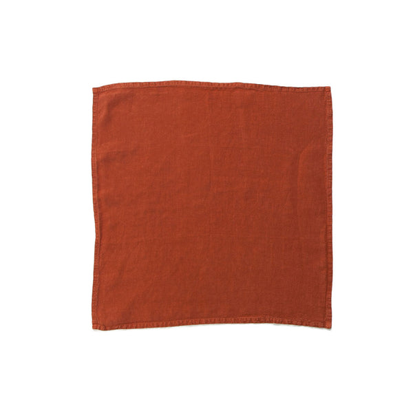 Simple Linen Napkin Rust