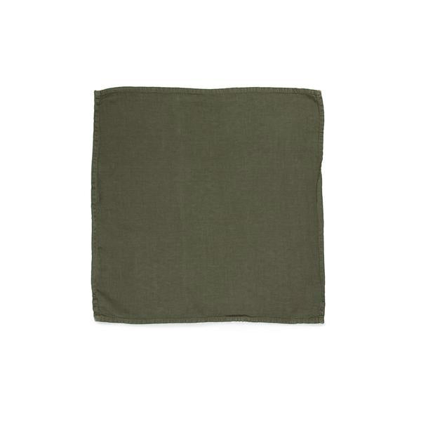 Simple Linen Napkin Olive Set of 4