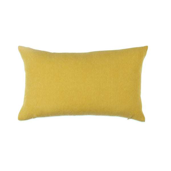Simple Linen Bolster Pillow Mustard