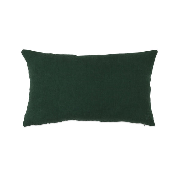 Simple Linen Bolster Pillow Pine