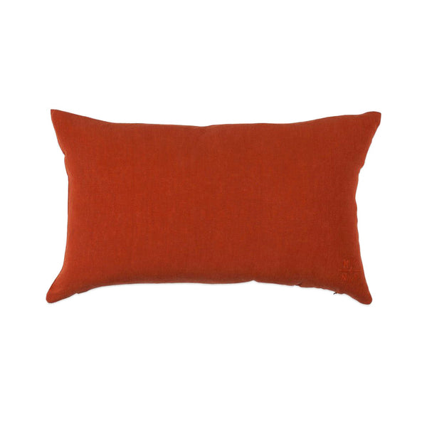 Simple Linen Bolster Pillow Rust