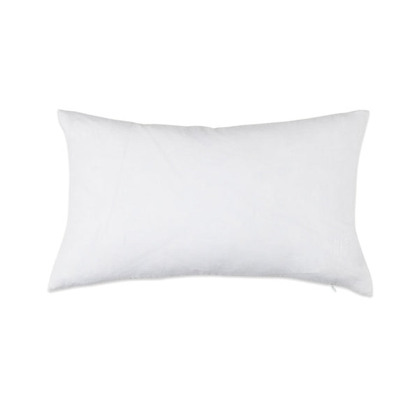 Simple Linen Bolster Pillow White