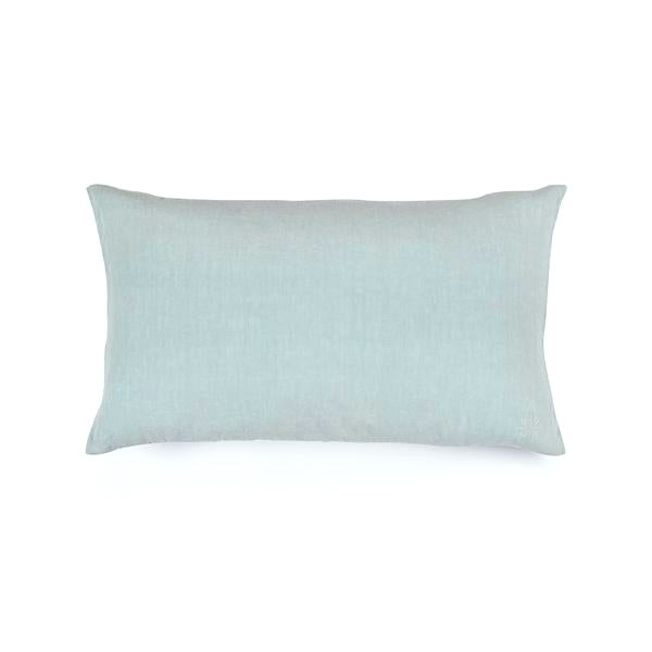 Simple Linen Bolster Pillow Sky
