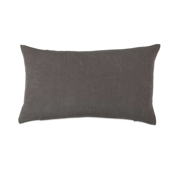 Simple Linen Bolster Dark Grey