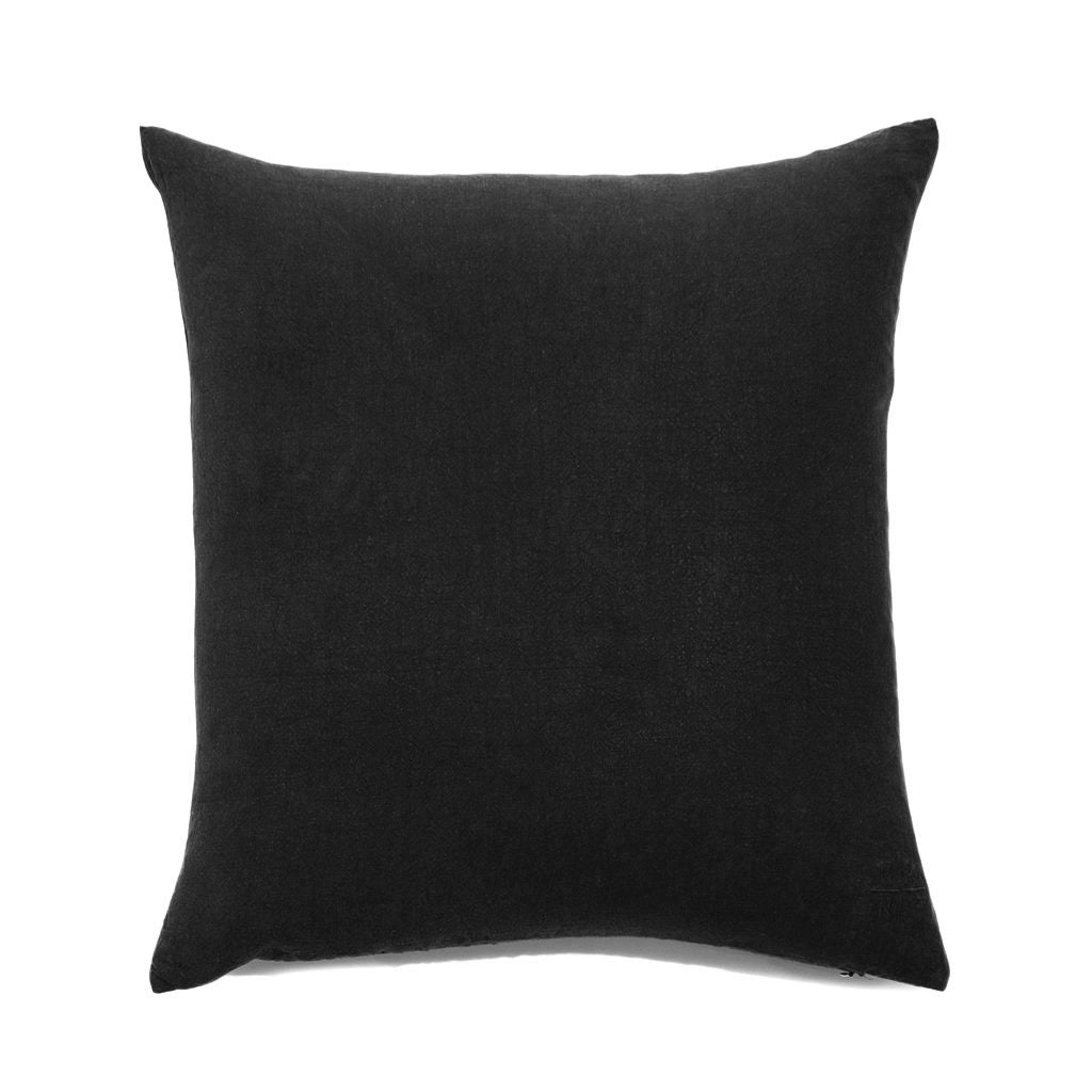Simple Square Linen Pillow Black