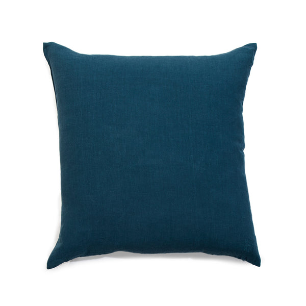 Simple Square Linen Pillow Peacock