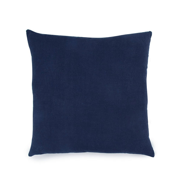 Simple Square Linen Pillow Navy