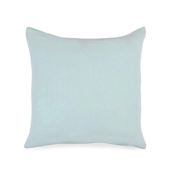 Simple Square Linen Pillow Sky