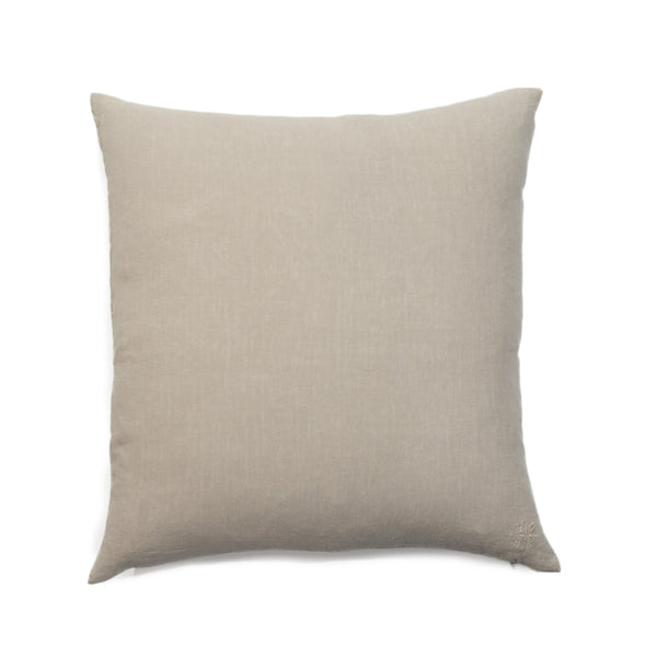 Simple Square Linen Pillow Flax
