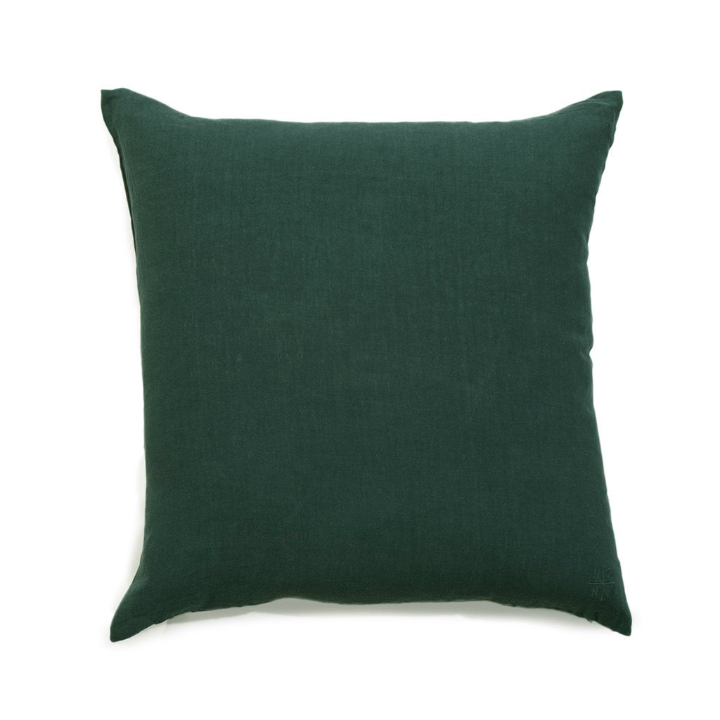 Simple Square Linen Pillow Pine