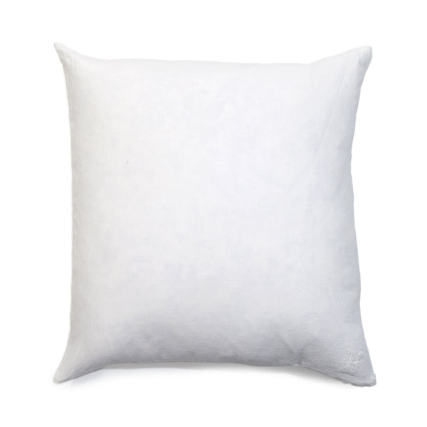 Simple Square Linen Pillow White