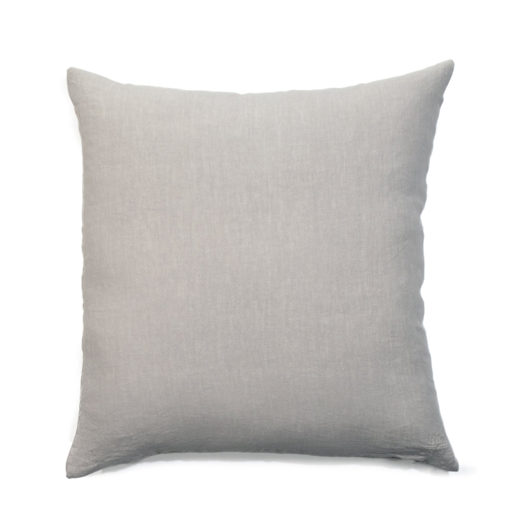 Simple Square Linen Pillow Light Grey - Large