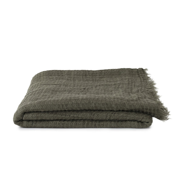 Simple Linen Throw Fatigue