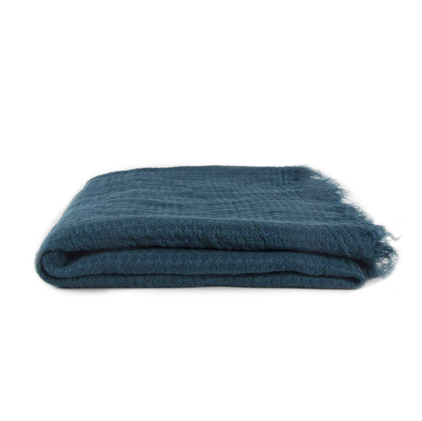 Simple Linen Throw Peacock