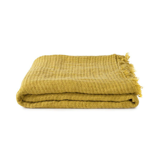 Simple Linen Throw Mustard