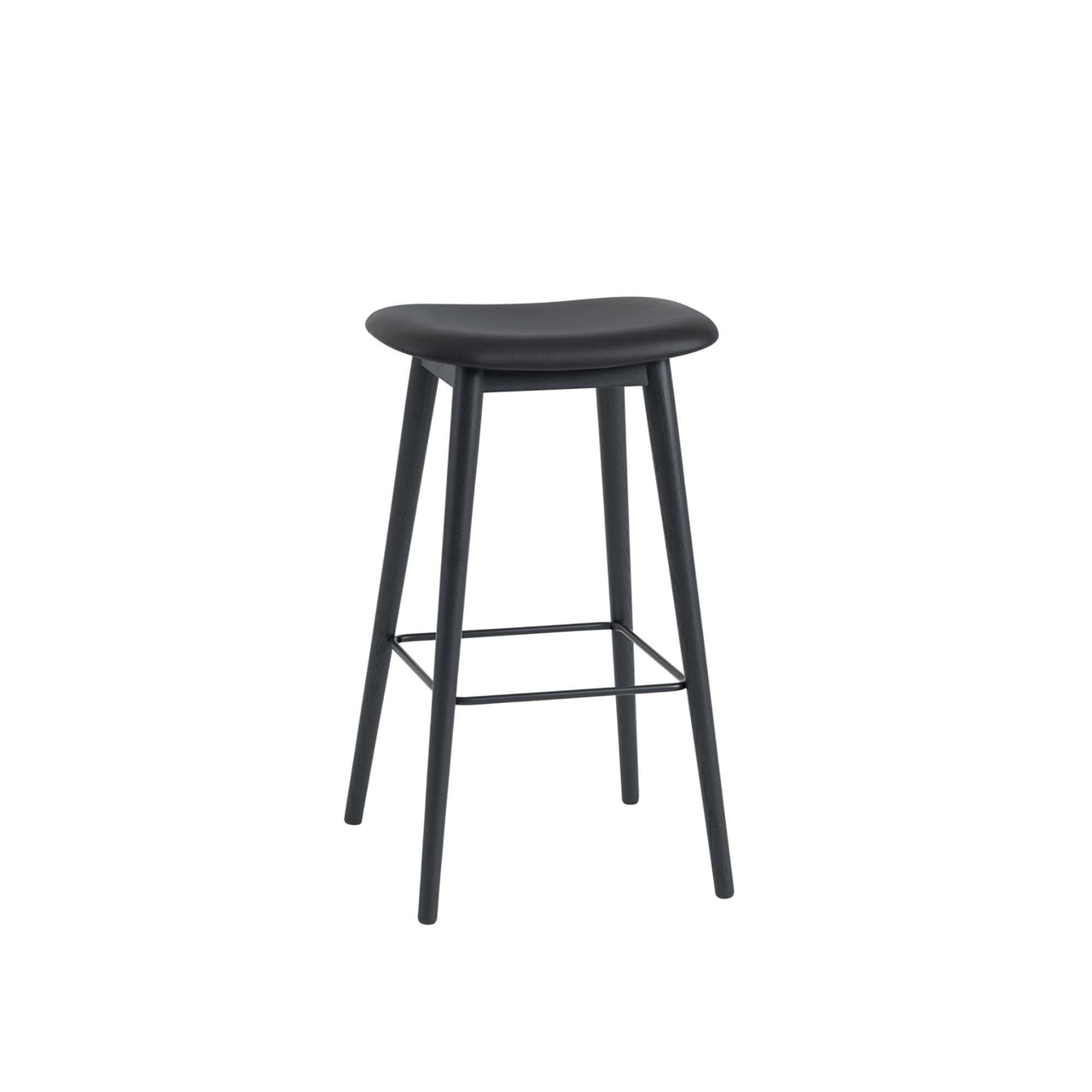 Fiber Bar Stool - Wood Base