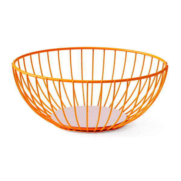 Iris Wire Basket - Large Orange