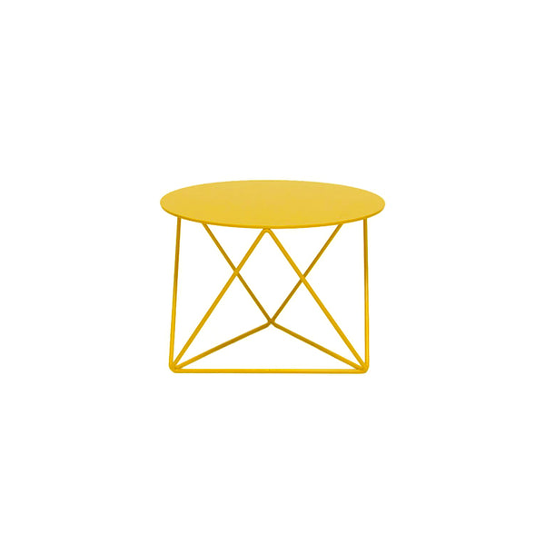 Short Pedestal Plant Stand Industrial Yellow