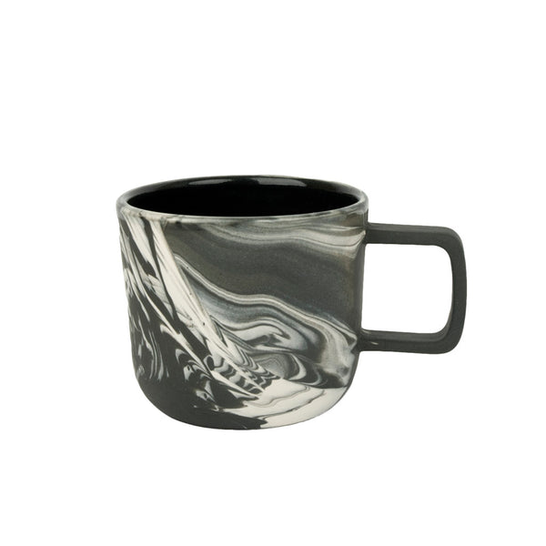 Marbled Black & White Mug