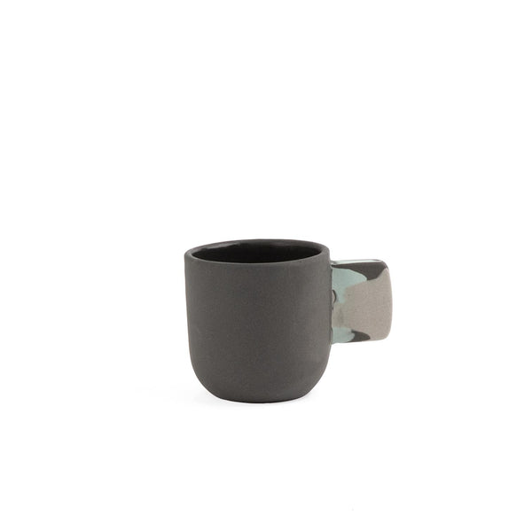Espresso Cup Marbled Black & White