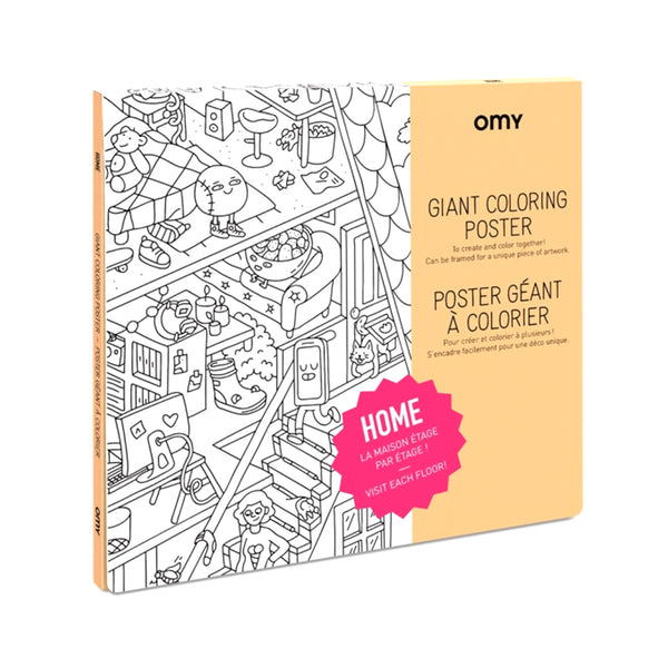 Giant Coloring Poster Home