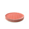 Red Grid Bamboo Plate