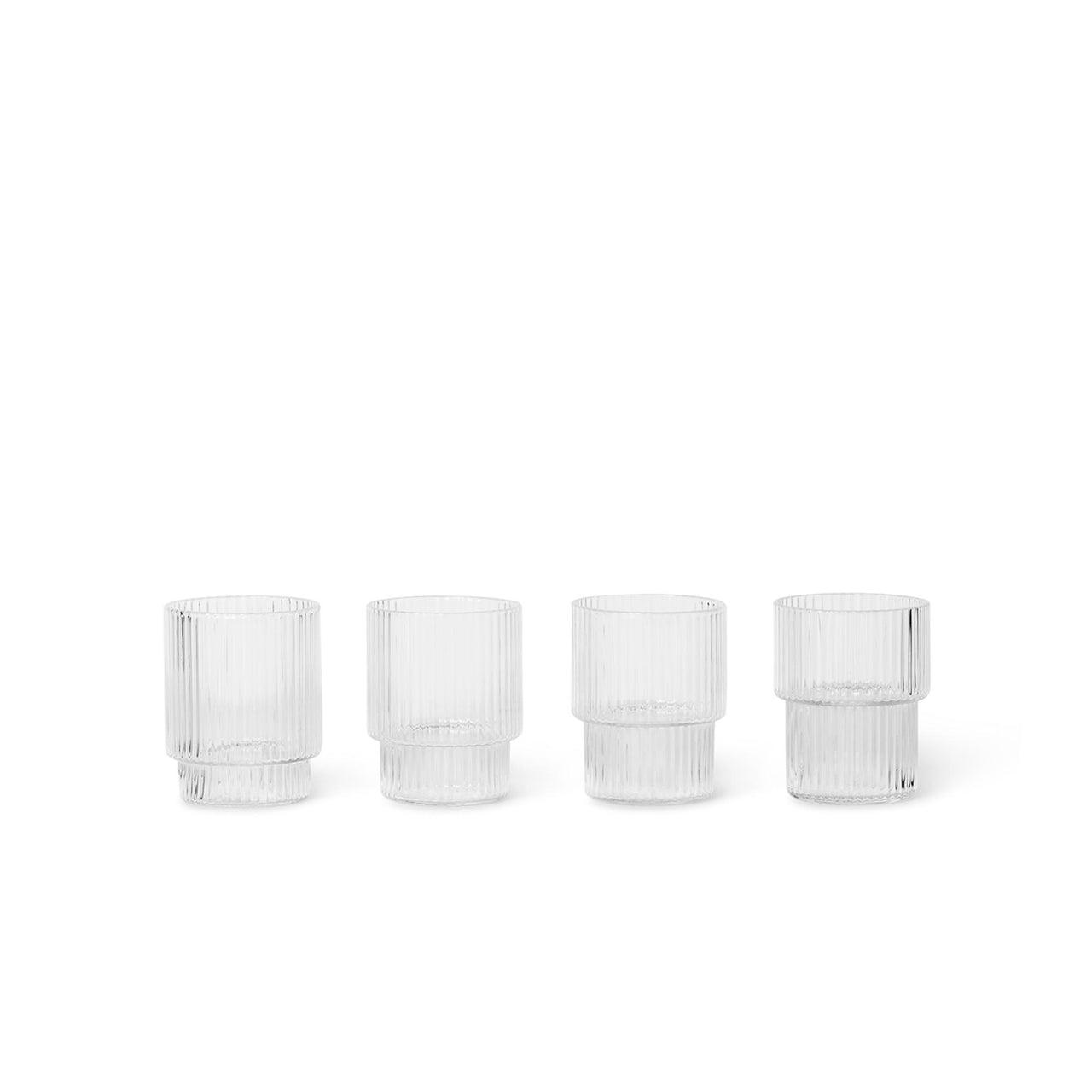 Ripple Glasses Small - Set of 4