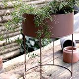 Round Plant Box Light Grey