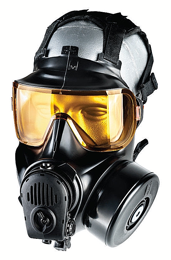 AVON FM54 CBRN RIOT AGENT-TIC TWIN PORT GAS MASK 72850