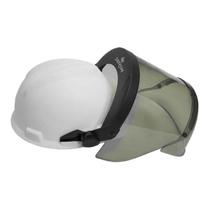 NSA 12 CAL ANTI-FOG SCRATCH RESISTANT PUREVIEW FACESHIELD WITH HARD HAT SLOTTED ADAPTER CLEAR CHINGUARD  H12HTHAT