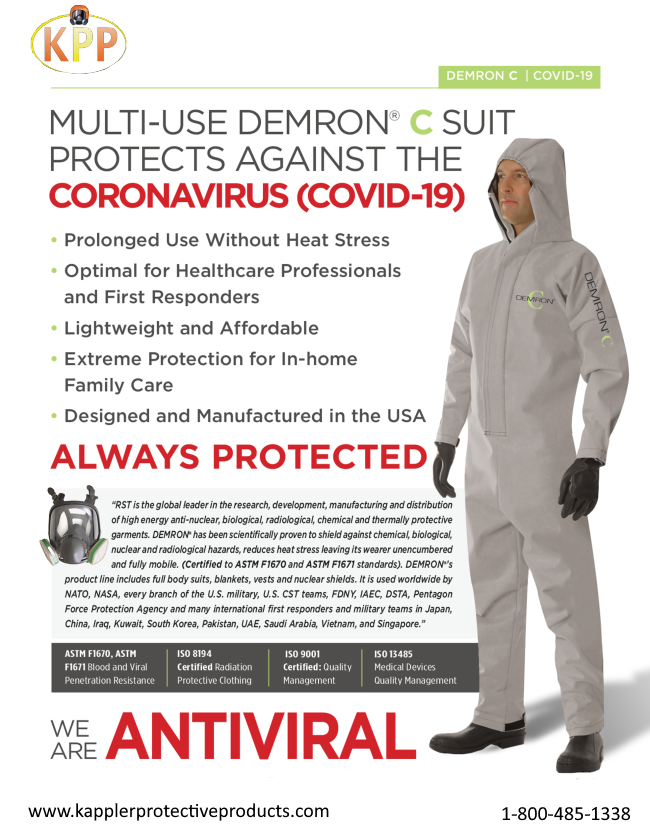 Corona-Virus Protective Reusable Demron C Suit