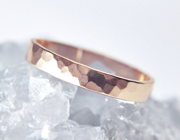 Aven 3 mm Faceted - 14K Rose Gold Ring