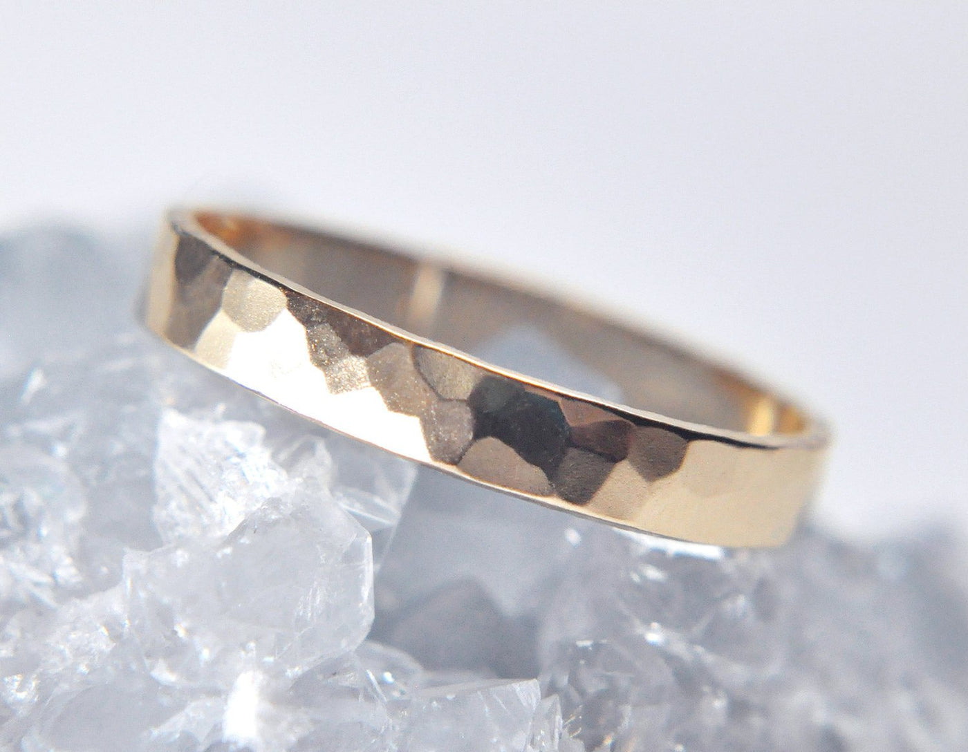 Aven 3 mm Faceted - 14K Yellow Gold Ring