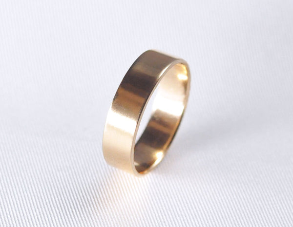 recycled 14 karat gold wedding ring, 14k wedding gold band for women