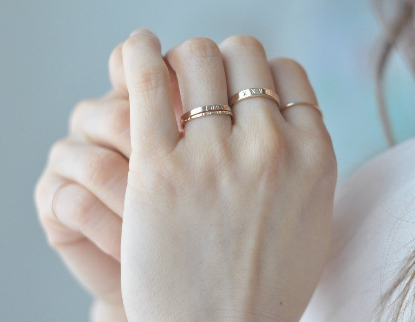 Aven 2 mm Personalized - 14K Yellow Gold Personalized Ring