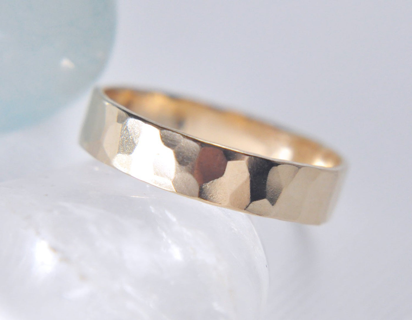 Aven 4 mm Faceted - 14K Yellow Gold Ring