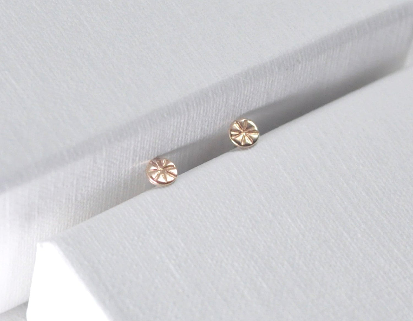 tiny gold studs, 14 karat gold stud earrings, tiny gold dot studs