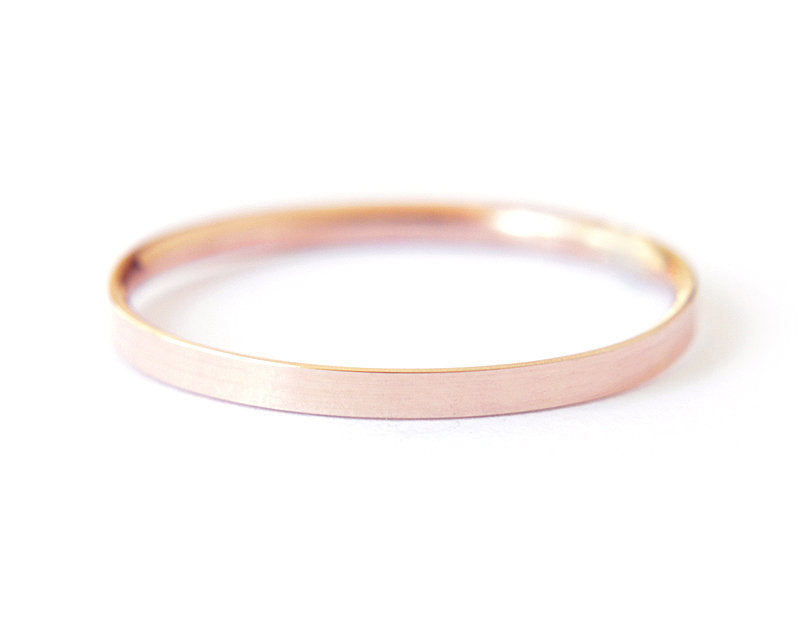 14k rose gold band, stacking ring, wedding ring, simple wedding ring