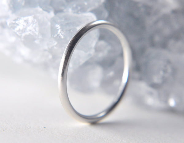 Ina 1.6 mm - 14K White Gold Ring