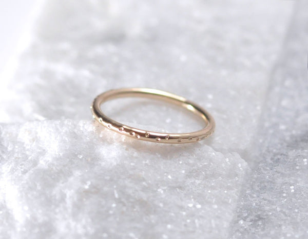 simple wedding band, 14kt yellow ring, 14 karat gold ring, 14 gauge ring, karat1424