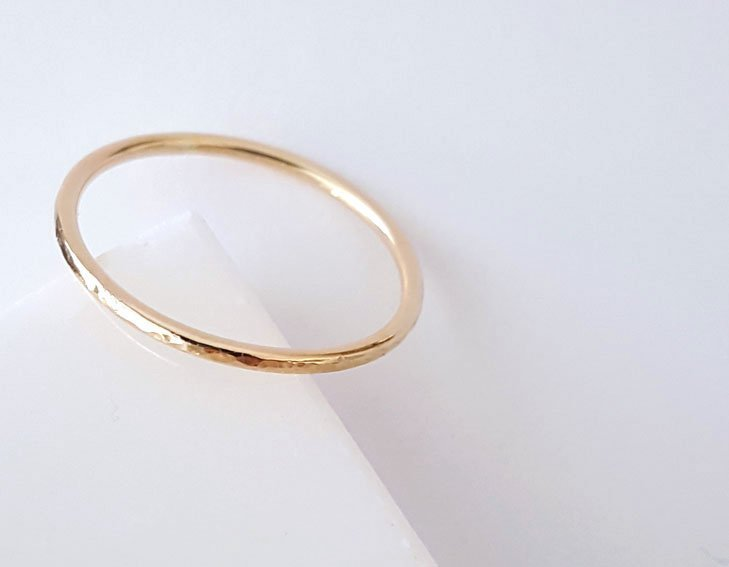 stacking ring, delicate ring, minimalist ring, 14 karat gold ring, karat1424