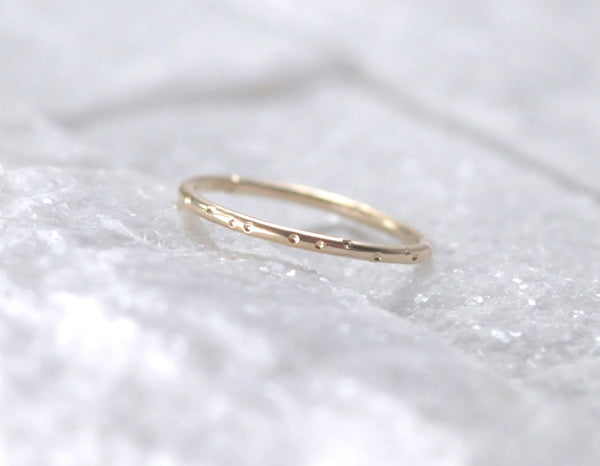 delicate gold ring, 14k yellow gold ring, everyday gold ring, gold ring, karat1424