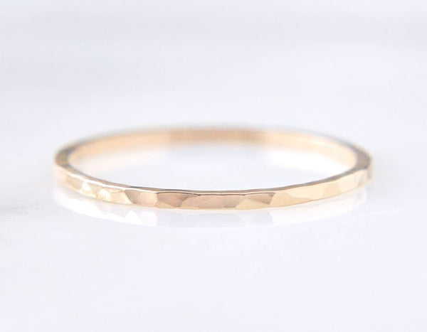 14k yellow gold ring, everyday ring, delicate gold wedding band, karat1424